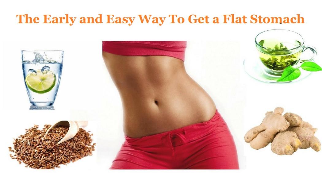 Get a flat stomach diet