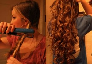 How to Curl Hair With a Straightener