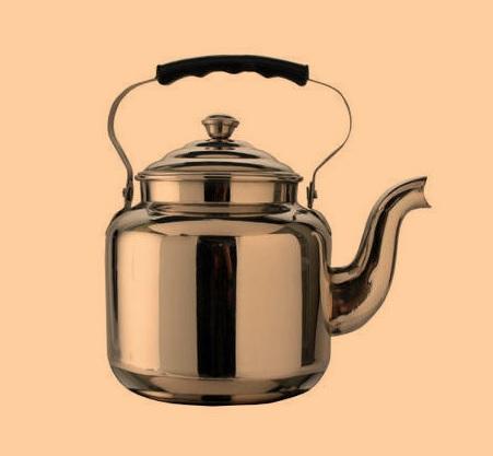 clean stainless steel tea kettle